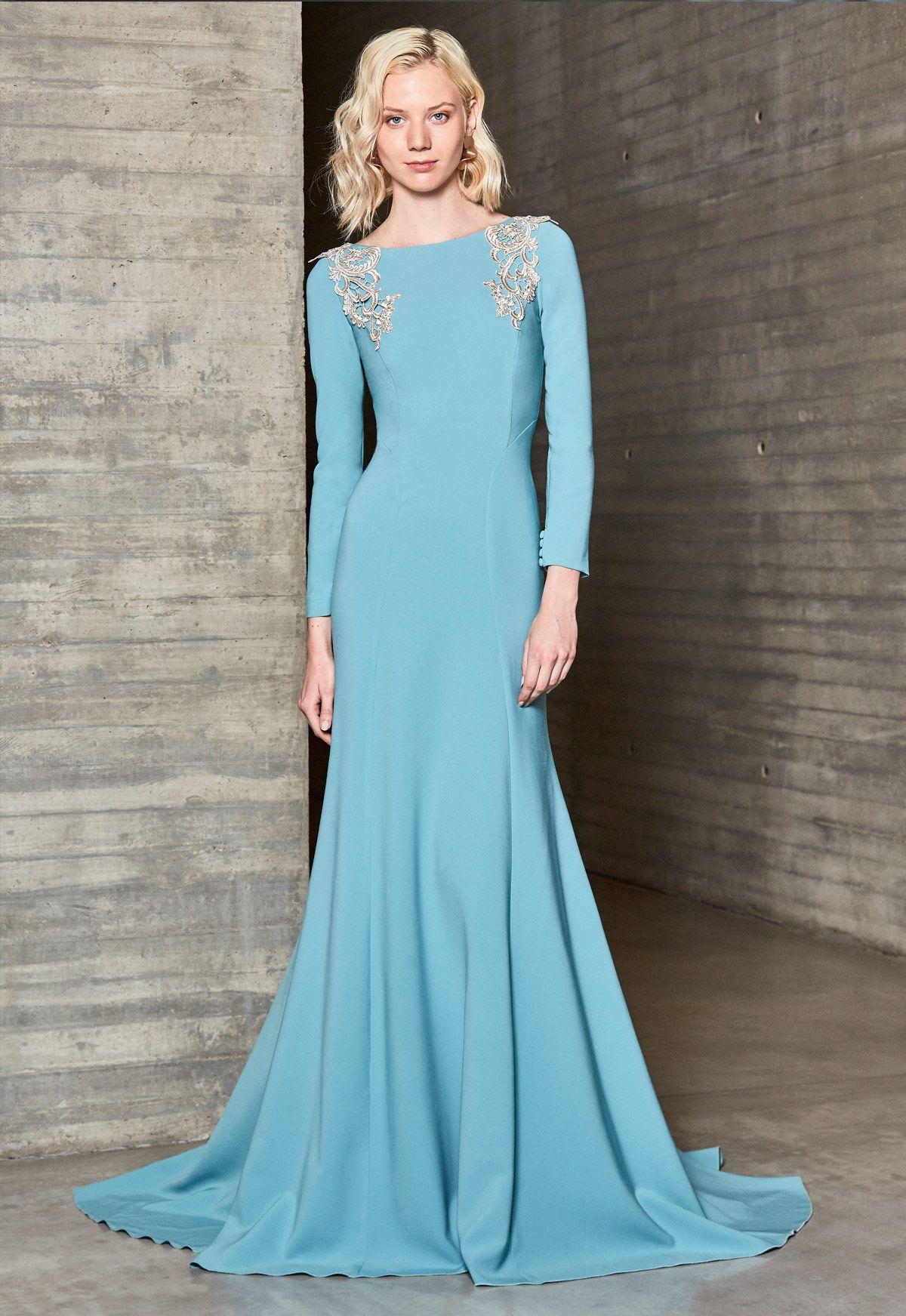 Vestido de fiesta Ana Torres colección 2018 modelo 18033A. Eva ...