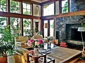 This is the living room in that same house on San Juan Island, WA. If this were my living room, I might never leave.