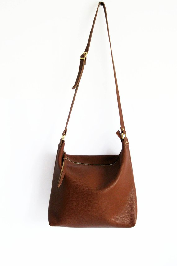 667d2ce9202fd HOBO BAG BROWN Women Leather Handbag Brown Hobo Crossbody Bag Soft Leather  Bag Leather Purse Festiva