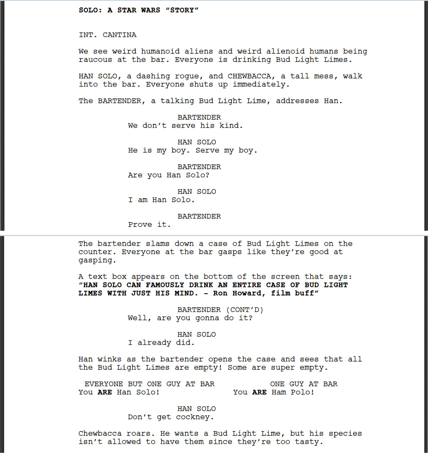 commercial scripts for kids