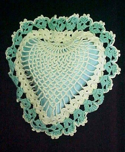 Vintage Crochet PATTERN Doily Sachet Pin Cushion Favor
