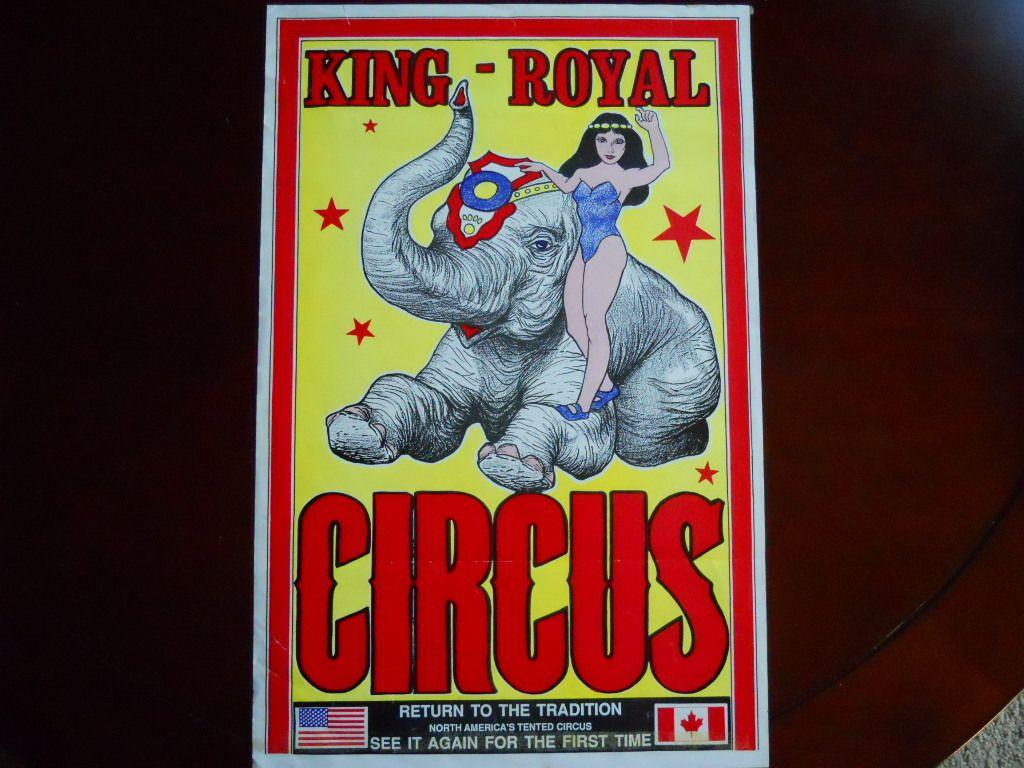 Vintage King Royal Circus Poster USA Canada Poster Circus 17x11 1940's 50'S | eBay