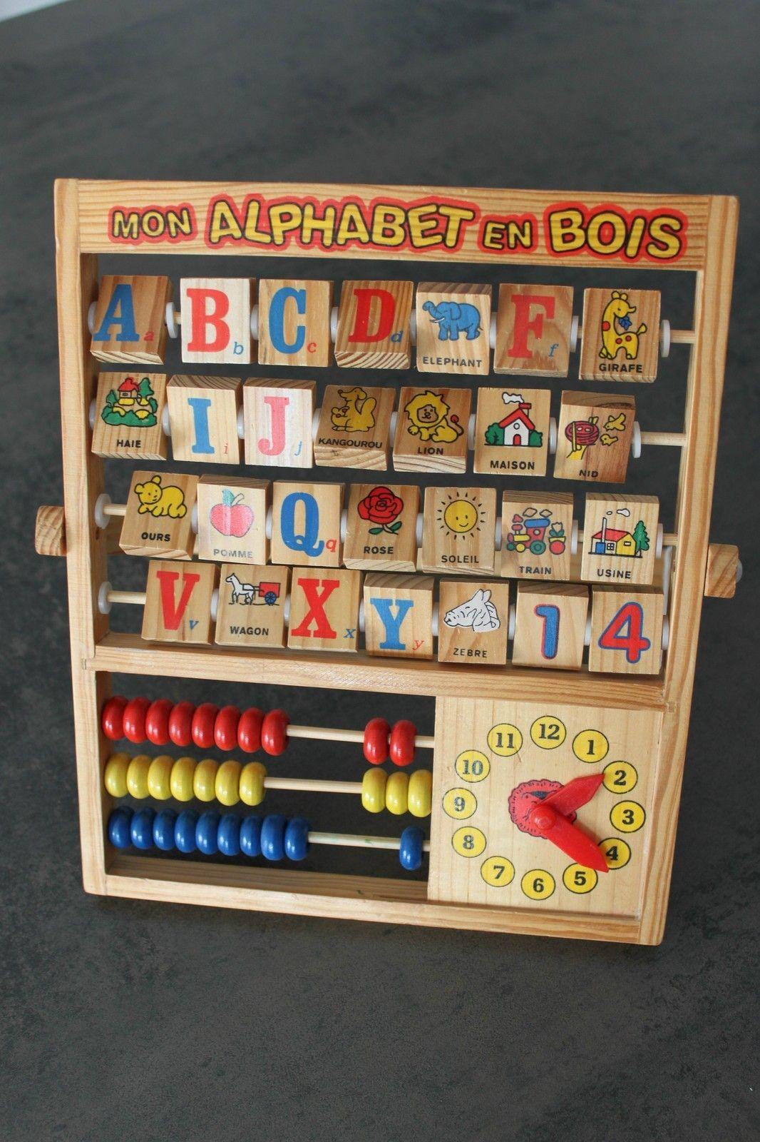 jouet en bois mon alphabet en bois boulier x no l b b. Black Bedroom Furniture Sets. Home Design Ideas