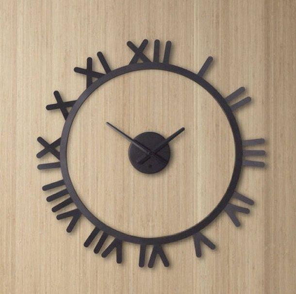 Relógio com números romanos para deixar o ambiente mais clássico!  www.azzurium.com.br