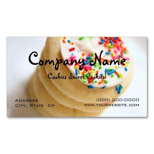 Cookies Business Cards Bizcardstudio Com Cookie Business Bakery Business Cards Cupcake Business Cards