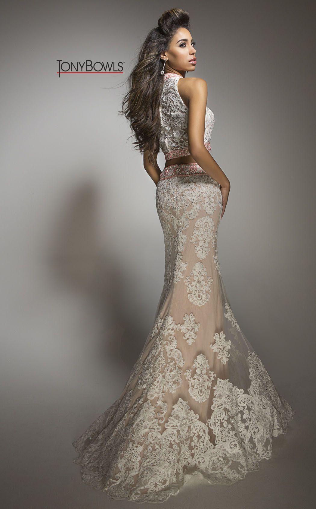 Tony bowls lace piece prom dress gowns pinterest prom tony