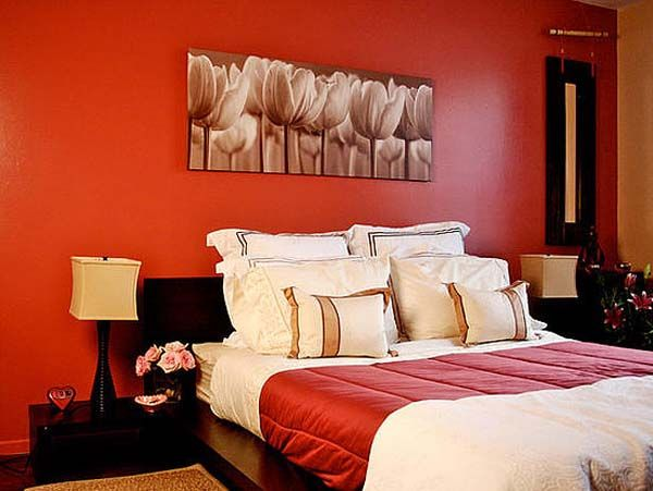 Bedroom For Couples Designs Prepossessing Decorating With Red Walls  Google Search  Places To Visit Design Ideas