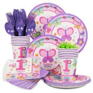 Sweet 1st Birthday Girl Standard Tableware Kit Serves 36  sc 1 st  Pinterest & Sweet 1st Birthday Girl Standard Tableware Kit Serves 36 | eBay ...