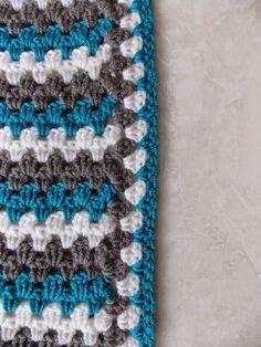 Renates Haken En Zo Granny Stripe Deken Blanket Gratis Deken