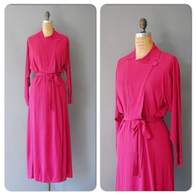 1940s fuchsia hotness! M-L by wildfellhall