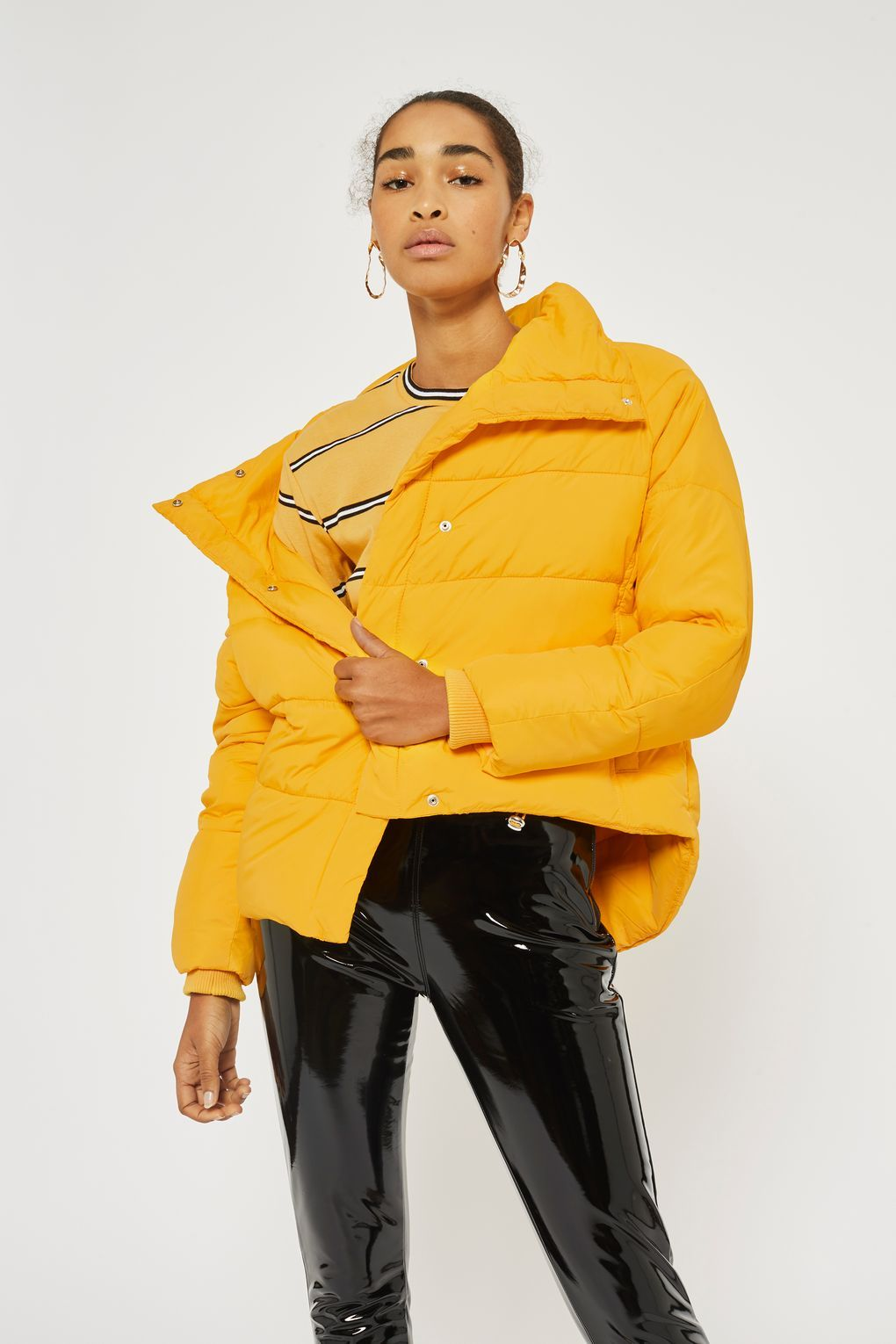 3732caf5bb067 Yellow Wrap Puffer Jacket - Jackets   Coats - Clothing - Topshop Europe