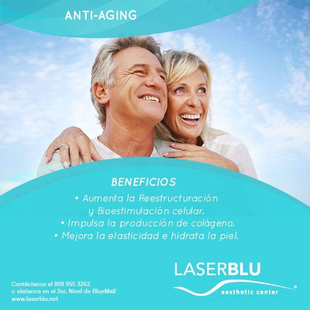 Con nuestros tratamientos anti-aging lograremos en papá www.laserblu.net 809-955-3265