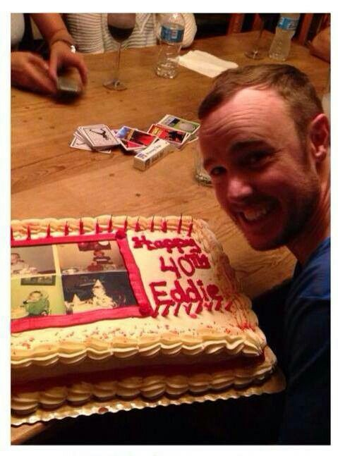 Eddie Fisher's cake on his 40th birthday!