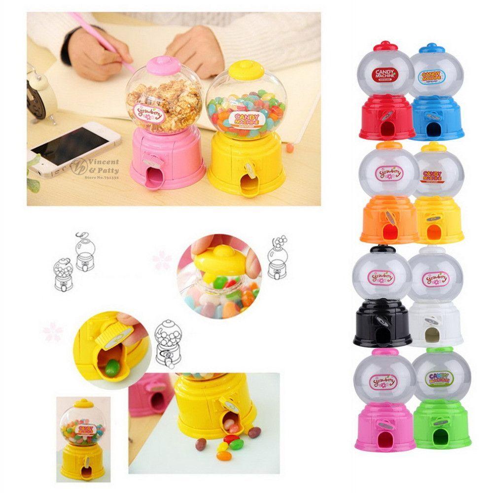 Cute Sweets Mini Candy Machine Gumball Dispenser Money Saving Box Kids Baby Toys