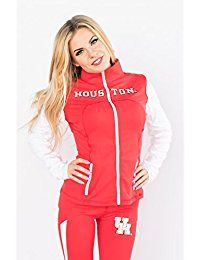 b9fe507261f6d0 Houston Cougars NCAA Twin Vision Activewear Women's Yoga Track Jacket ***  Click image for more details.