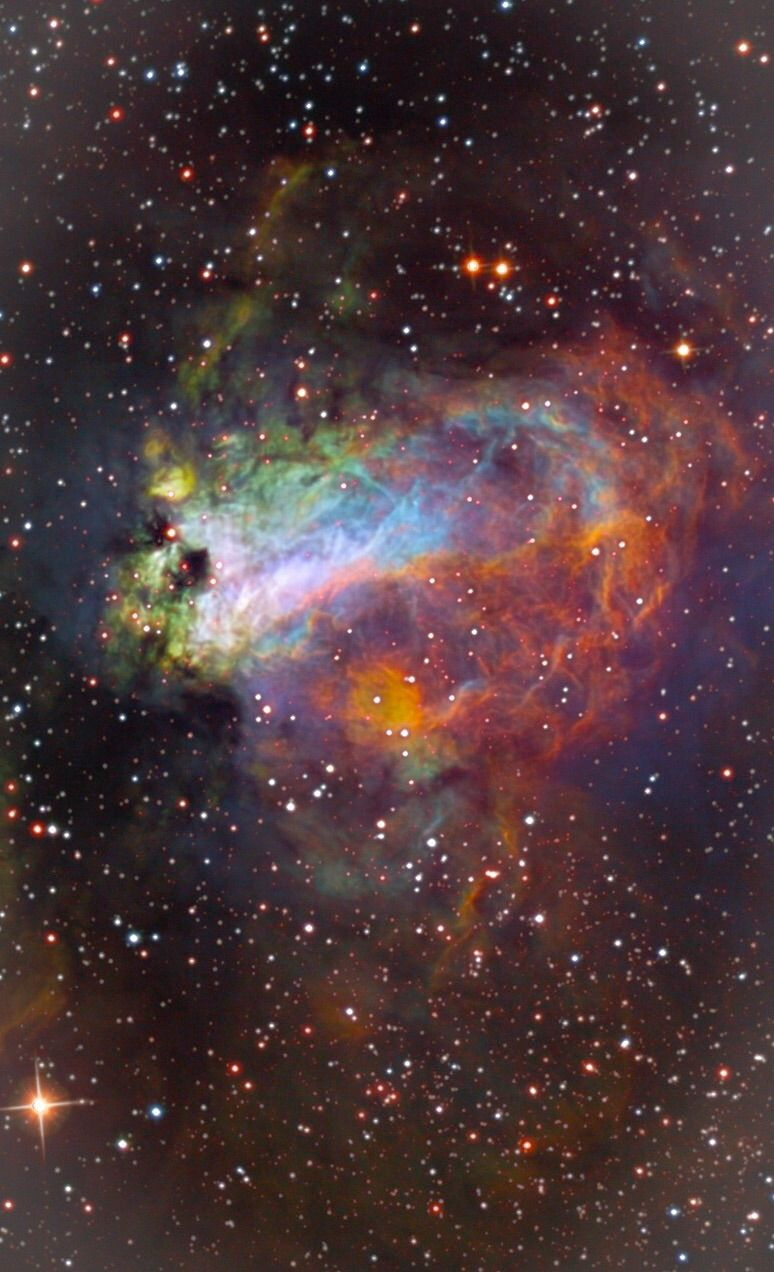 Swan Nebula - Hubble Palette Credit: NASA/Hubble, color/effects thedemon-hauntedworld
