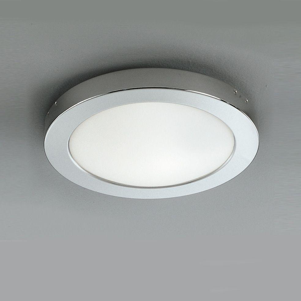Franklite Cf1291 Ip54 1 Light Flush Bathroom Ceiling Fitting