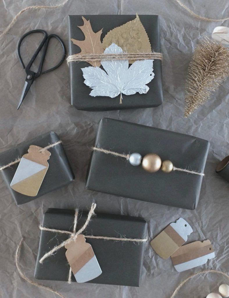 DIY] ↠ Weihnachtsgeschenke im Metallic-Look! | Pinterest | Wraps ...