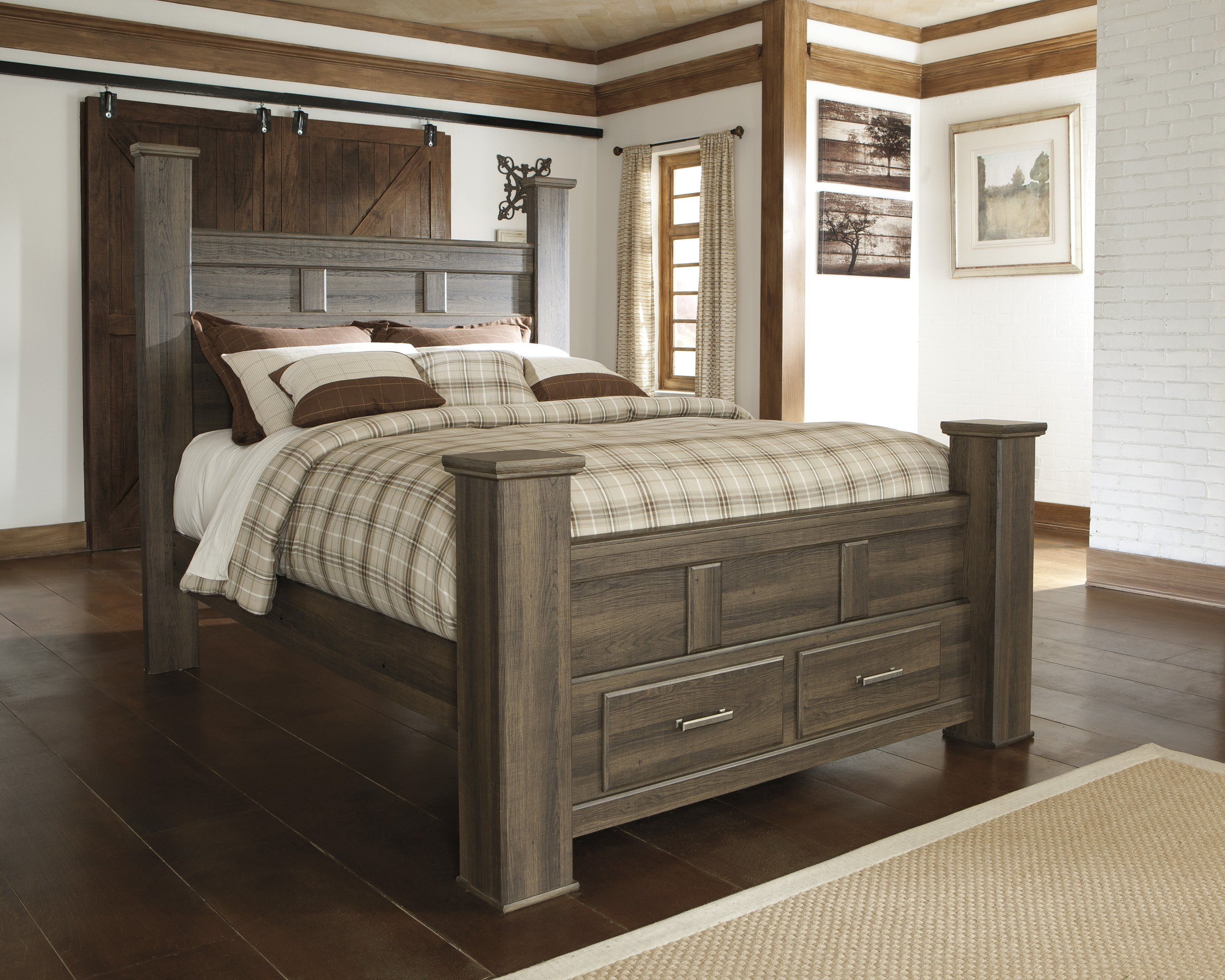 Juararo  Storage Bed  Dark Brown