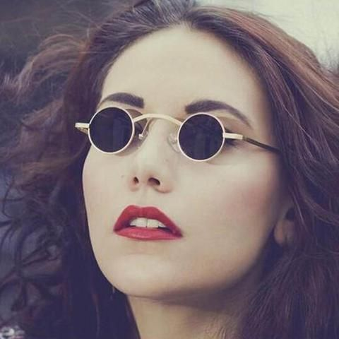 a379ff88d09e Brand Vintage Round Sunglasses Women Men Steampunk small Metal Frame Sun  Glasses Female Retro Eyewear Mirror Oculos De Sol