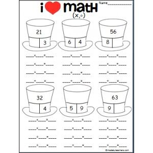 math worksheet : 1000 images about fact families x  on pinterest  fact families  : Multiplication Fact Family Worksheets 3rd Grade