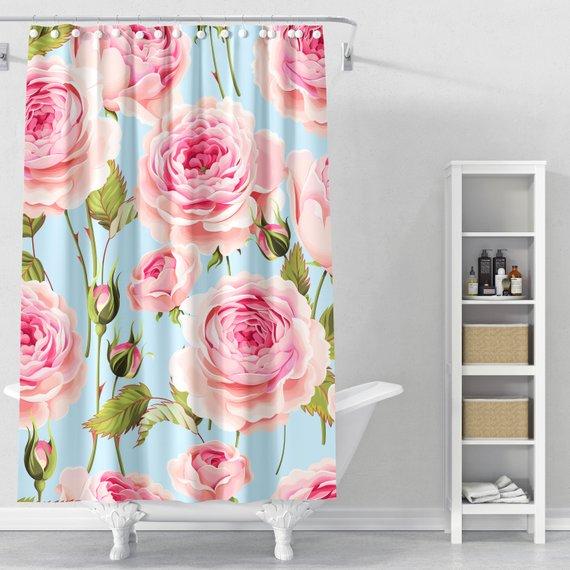 Roses Shower Curtain Shower Curtain Shower Curtain Design