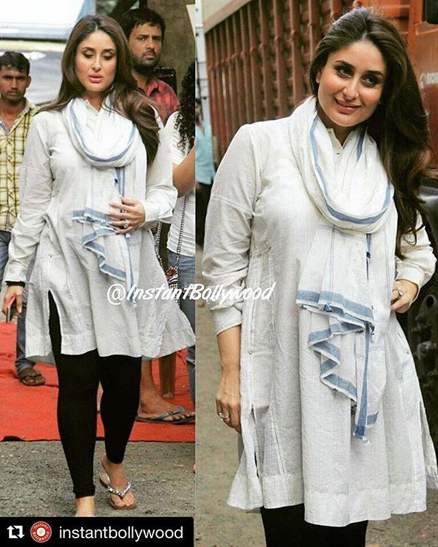 Peopleofpero Therealkareenakapoor Wearing Pero Dress And Gamcha Handmadewithlove Made Stylish Maternity Outfits Indian Maternity Wear Maternity Clothes