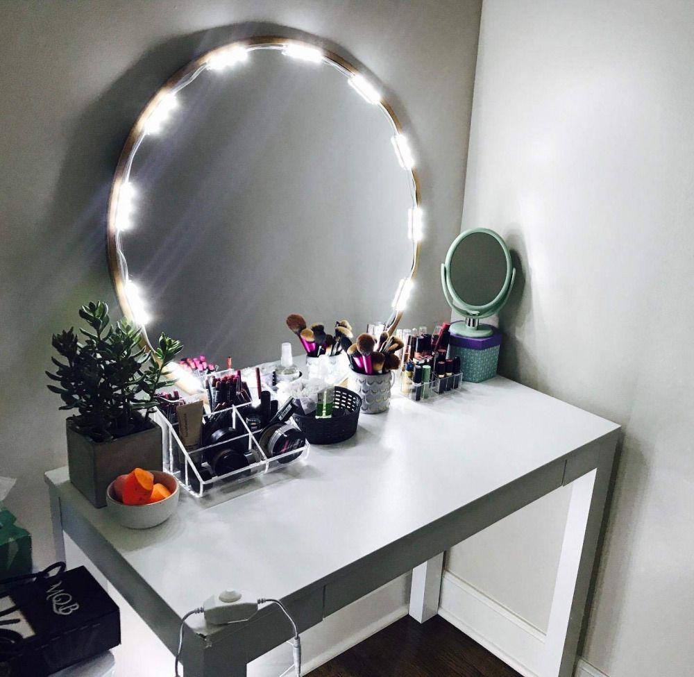 Cosmetic Makeup Vanity Mirror Kit 20 Led Strip Lights Functional Remote Control Pensonco Diy Vanity Mirror Diy Vanity Mirror With Lights Makeup Vanity Mirror