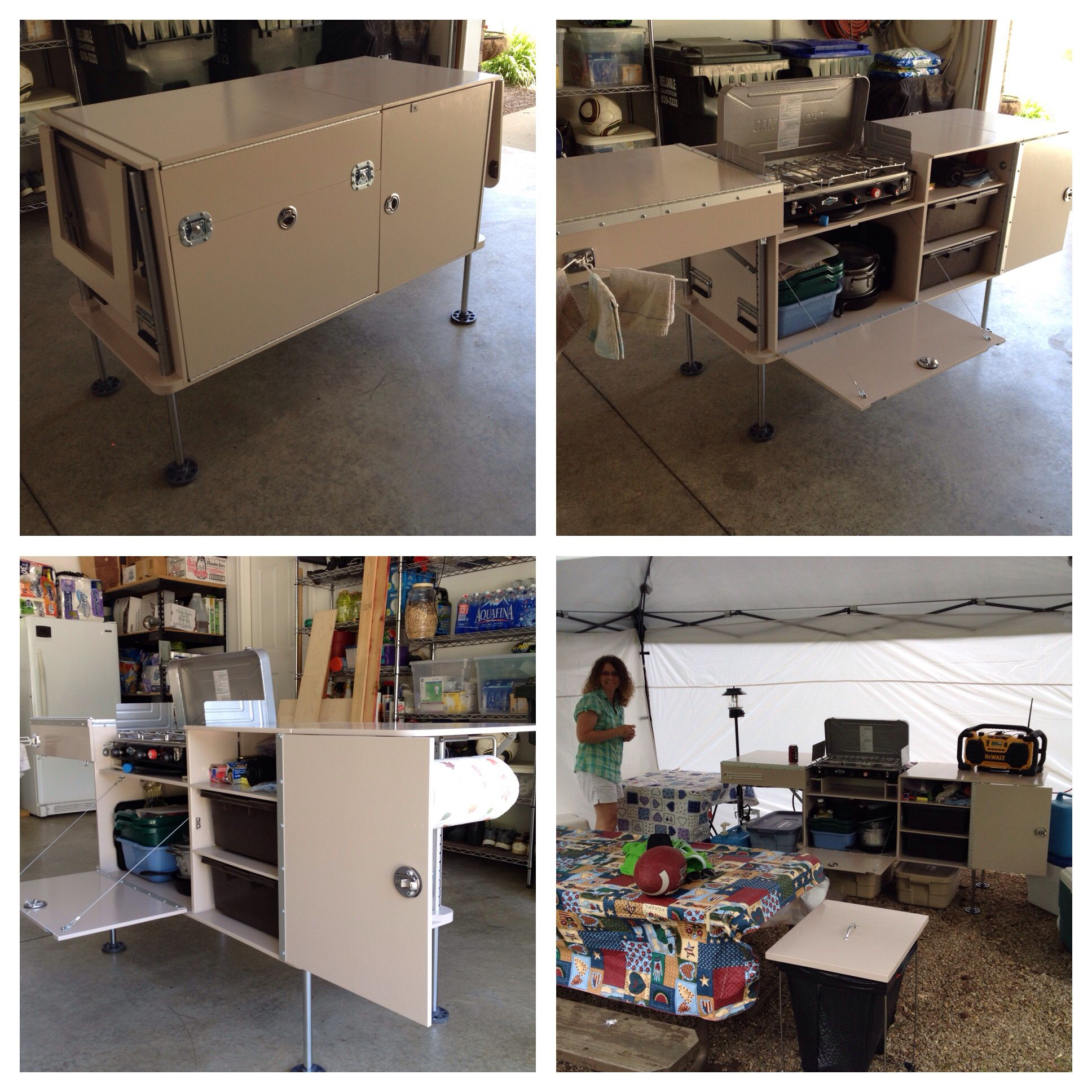 Chuck Box Camp Kitchen Constructed of Baltic Birch Drawers are