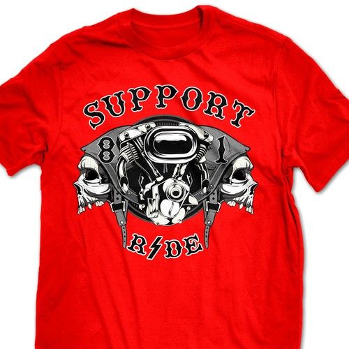 Hell's Angels - Support 81 T-Shirt T-shirt contest #Sponsored design