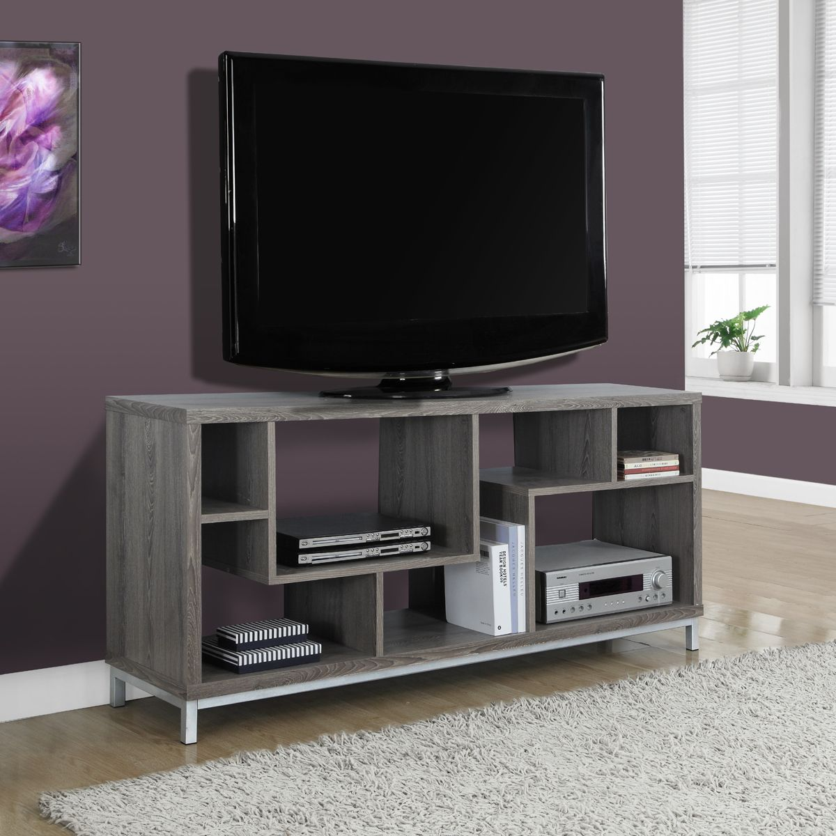 Mansa Reclaimed Look TV Stand Room Divider Taupe Pinterest