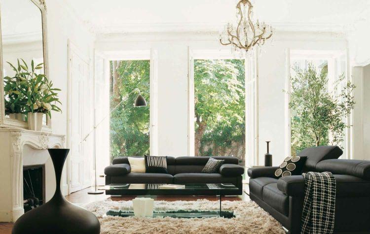 Wohnzimmer Ideen Fur Schwarzes Sofa Wie Richtig Kombinieren