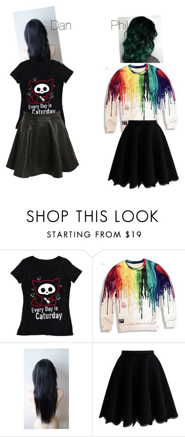 """""""Dan Howell and Phil Lester"""" by dan-phil-fan ❤ liked on Polyvore featuring beauty, Chicwish and Pilot"""