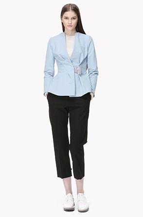 [MINE] Wrinkled peplum jacket