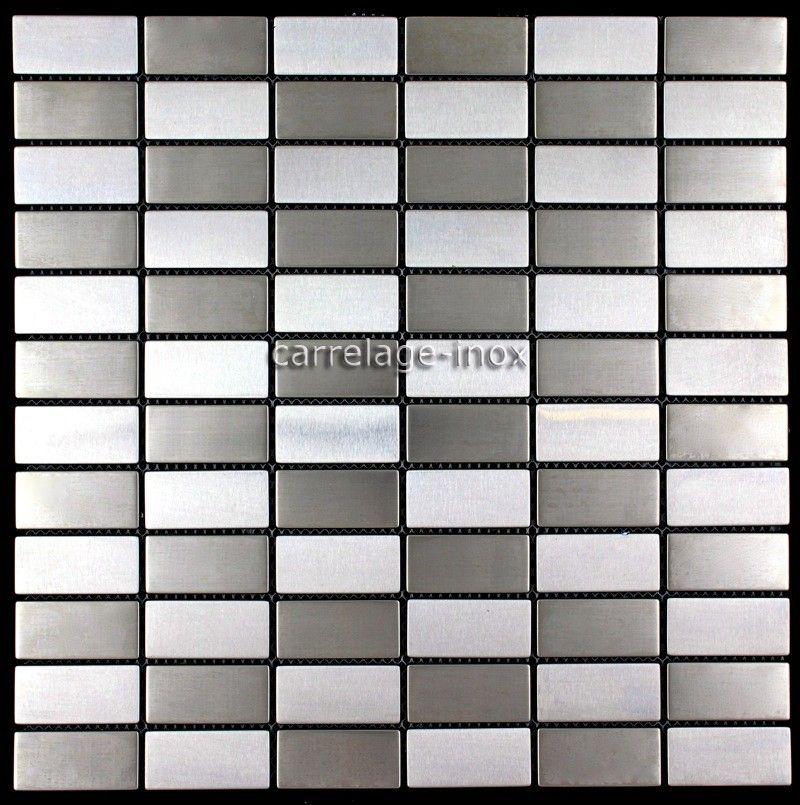 Mosaique et carrelage inox salle de bain damier-briqueTaille des