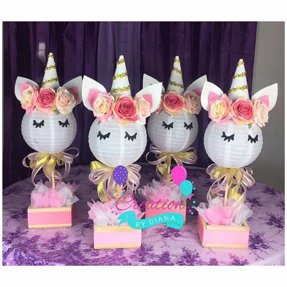 1 Unicorn Centerpiece ,Happy Birthday Unicorn Centepiece, It\u0027s a - centros de mesa para baby shower