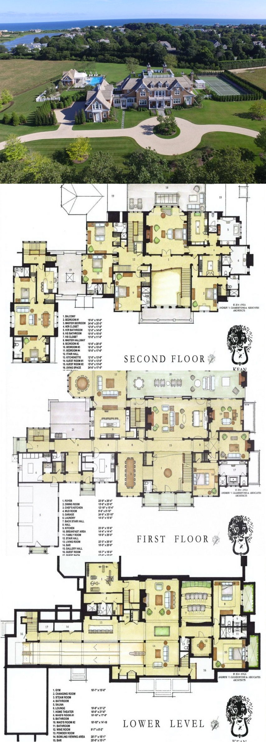Twin Peaks A 45 Million Newly Built Shingle Mansion In Southampton Ny Homedecortipsok Mansion Floor Plan House Plans Mansion Sims House Plans