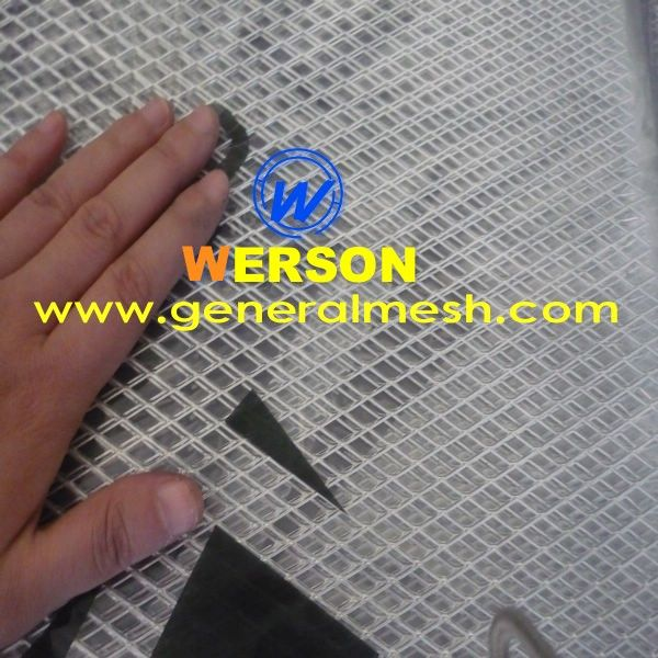 Silver Universal Aluminum Car Body Grille Net Mesh Grill