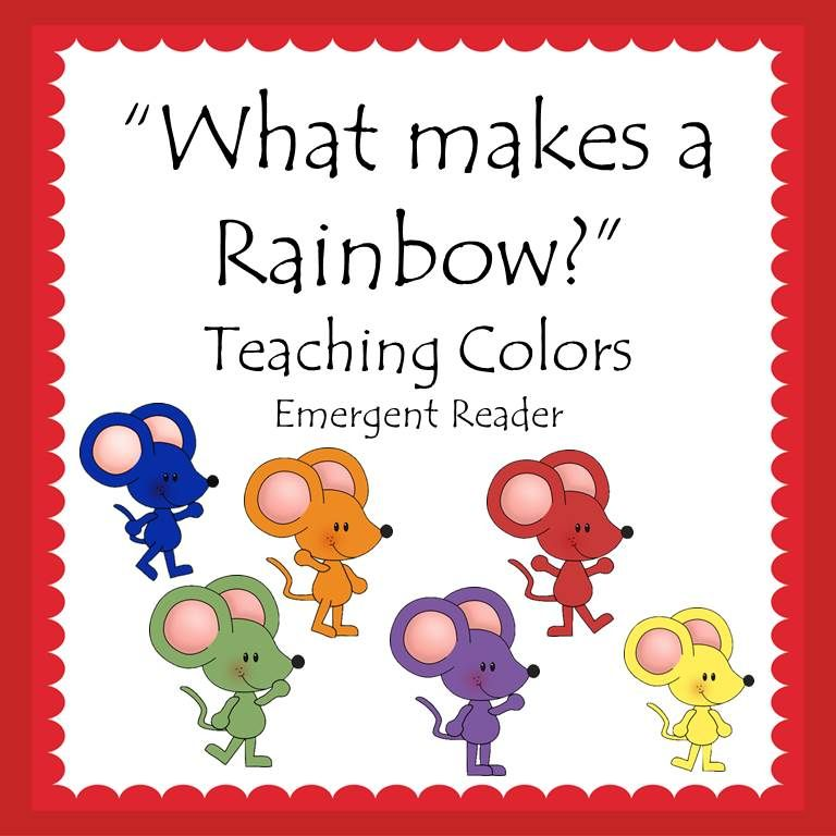 Emergent Reader What Makes A Rainbow Teaching Colors Book Free