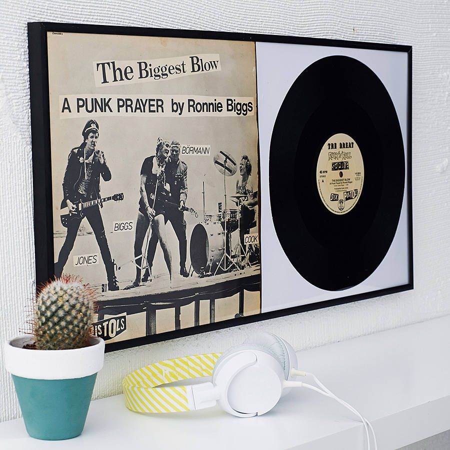 Double Record Frame Framed Records Record Wall Decor Record Wall