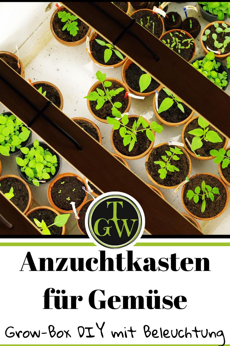 Anzuchtkasten Selber Bauen Mit Beleuchtung Grow Box Diy Anzuchtkasten Topfgarten Selber Bauen