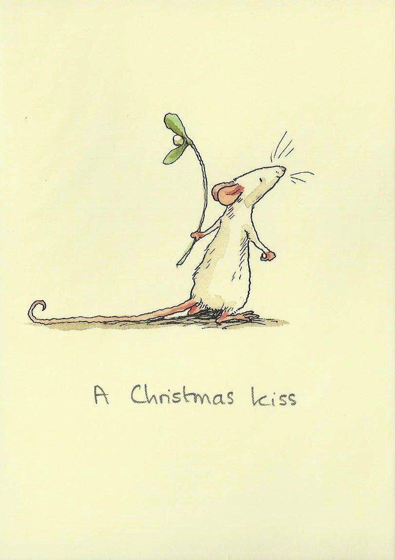 Einsame maus sweet weihnachten aquarell weihnachten und zeichnungen - Niedliche weihnachtskarten ...