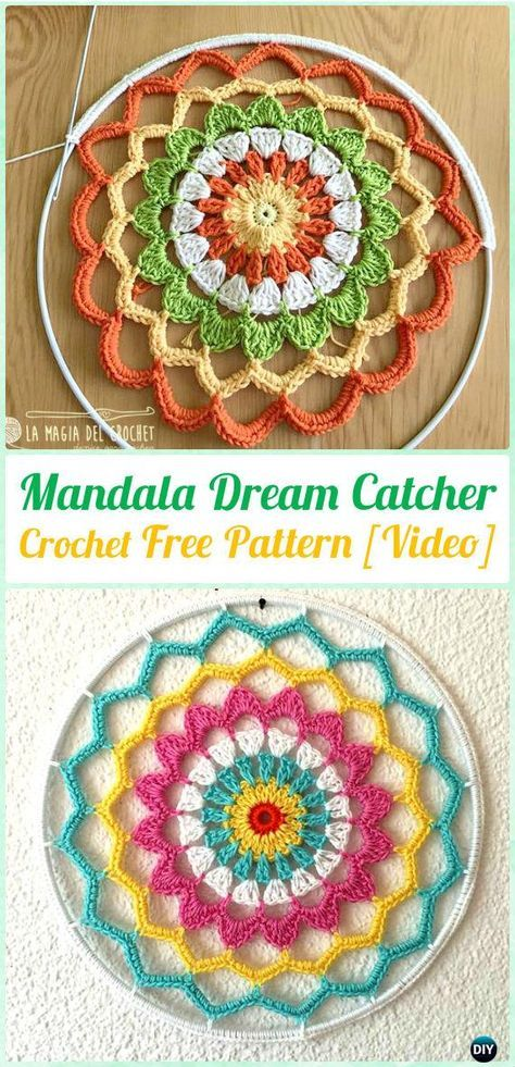 Crochet Mandala Dreamcatcher Free Patterns Crochet Dream Catcher