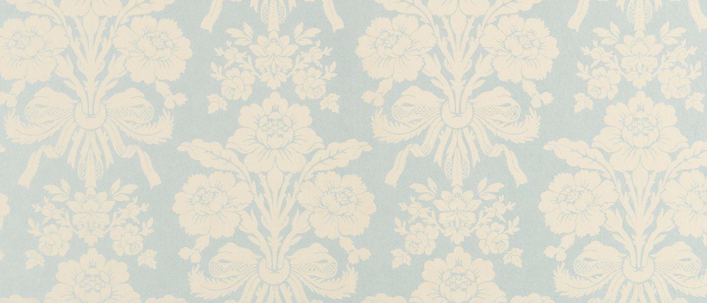 tatton duck egg pale linen damask wallpaper at laura. Black Bedroom Furniture Sets. Home Design Ideas