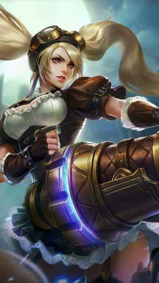 Layla Malefic Gunner Mobile Legend Wallpaper The Legend Of Heroes Legend Games Bang