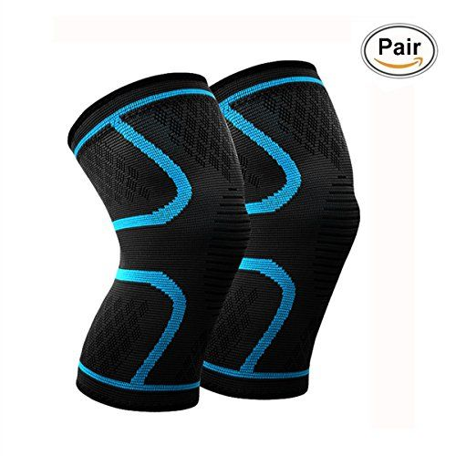 8fde4025dc Knee Support (Pair) Beskey Anti Slip Knee Brace Super Elastic Breathable Knee  Compression Sleeve Help Joint Pain Relief for Arthritic…