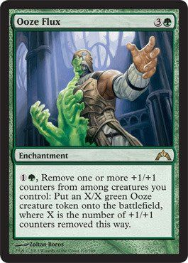 Magic: the Gathering - Ooze Flux (128) - Gatecrash by Wizards of the Coast. $0.30. A single individual card from the Magic: the Gathering (MTG) trading and collectible card game (TCG/CCG).. This is of Rare rarity.. From the Gatecrash set.. Magic: the Gathering is a collectible card game created by Richard Garfield. In Magic, you play the role of a planeswalker who fights other planeswalkers for glory, knowledge, and conquest. Your deck of cards represents all ...