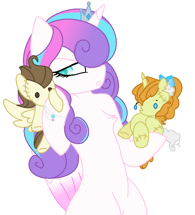 flurry heart with pound and pumpkin cake toys ponies pinterest