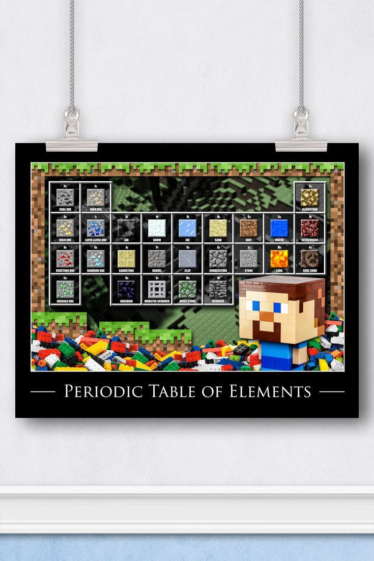 Minecraft lego art the periodic table minecraft pinterest minecraft lego art the periodic table gamestrikefo Image collections