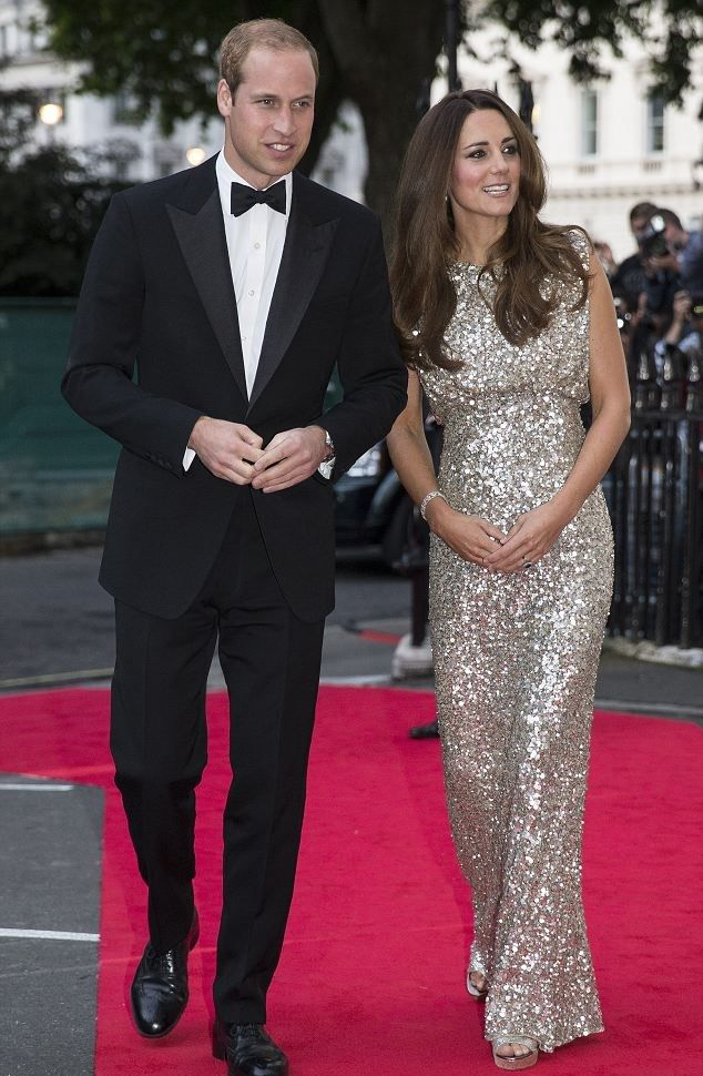 TRH the Duke and Duchess of Cambridge at Tusk Trust Gala. LOVE her gown!!